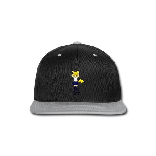 Pika Girl Female T-Shirt - Snap-back Baseball Cap