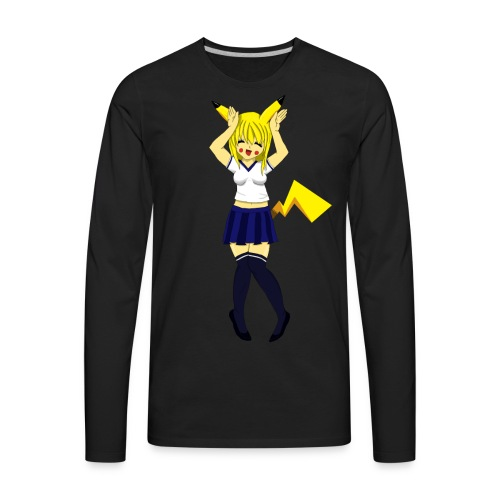 Pika Girl Female T-Shirt - Men's Premium Long Sleeve T-Shirt