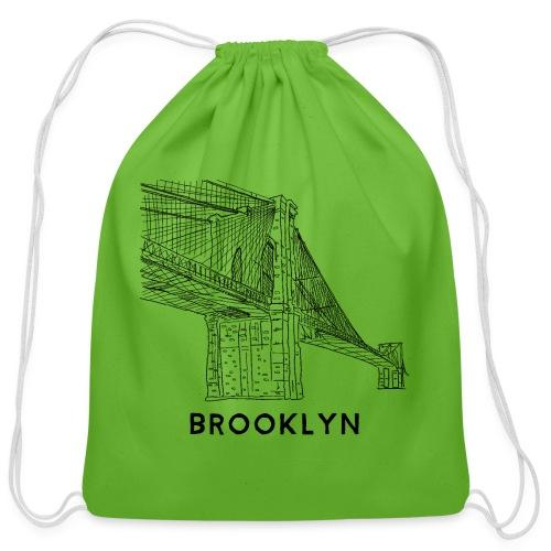 Brooklyn Bridge - New York City - Cotton Drawstring Bag