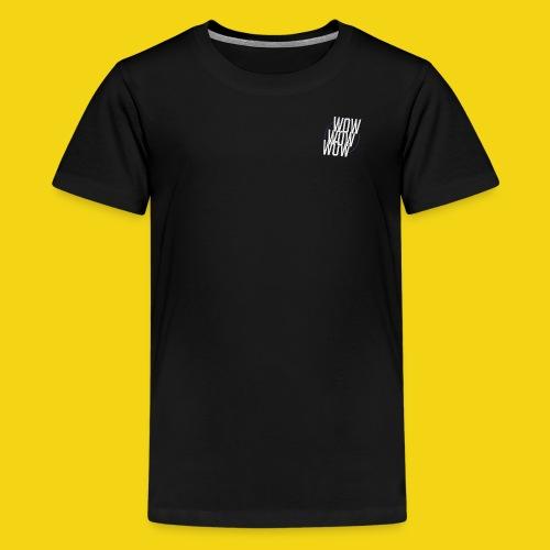 WOW WOW WOW Baseball T - Kids' Premium T-Shirt
