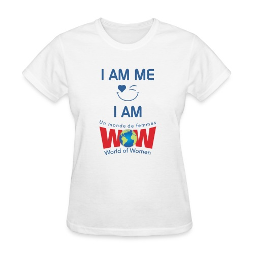 I AM ME-I AM WOW - White   %100 cotton - Women's T-Shirt