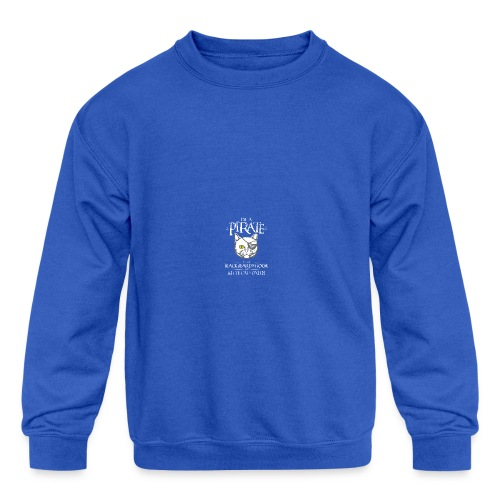 Funny Pirate Kitty - Kid's Crewneck Sweatshirt