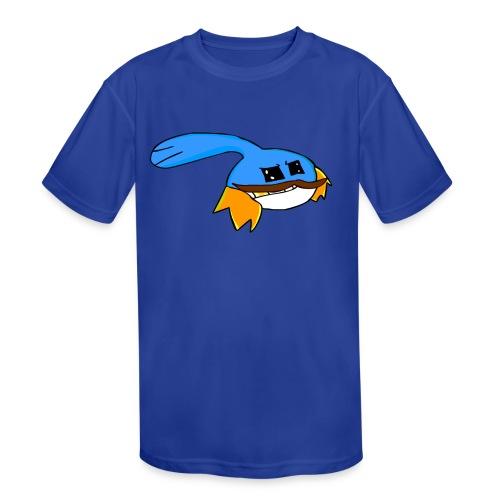 Mustache Rainbowzz Blue - Kid's Moisture Wicking Performance T-Shirt