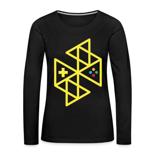 Abstract Gaming Yellow Women's - Women's Premium Long Sleeve T-Shirt