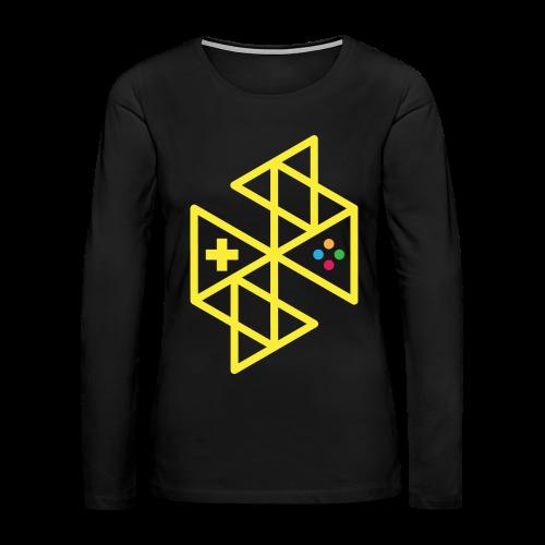 Abstract Gaming Yellow Women's - Women's Premium Long Sleeve T-Shirt