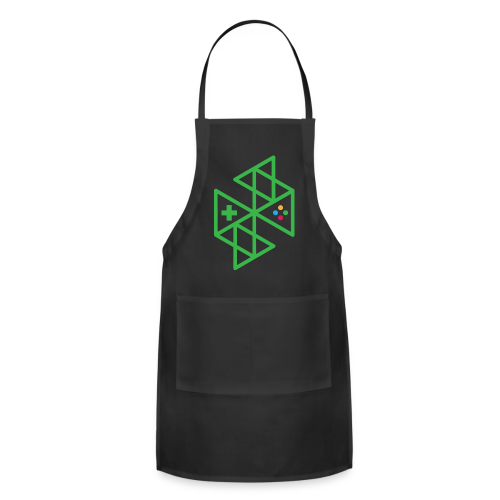 Abstract Gaming Green Women's - Adjustable Apron