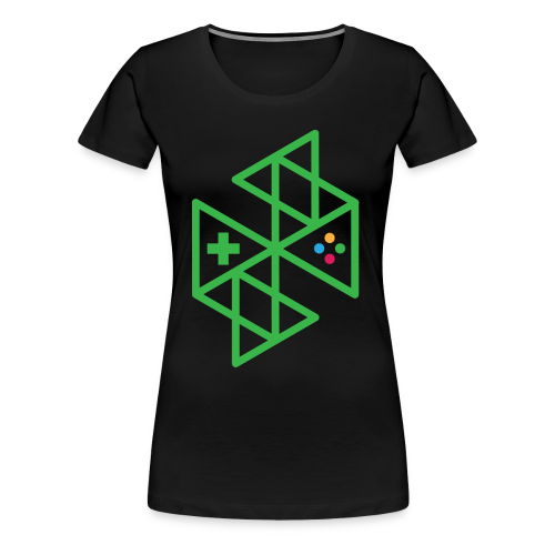 Abstract Gaming Green Women's - Women's Premium T-Shirt