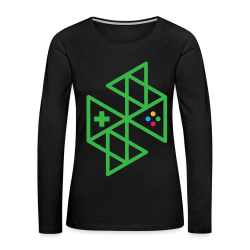 Abstract Gaming Green Women's - Women's Premium Long Sleeve T-Shirt
