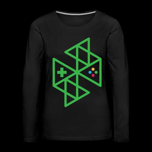 Abstract Gaming Green Women's - Women's Premium Long Sleeve T-Shirt