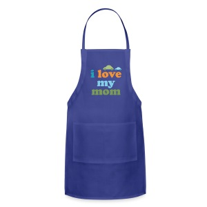 Retro Cars I Love My Mom - Adjustable Apron