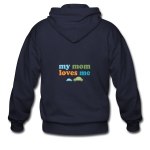 Retro Cars My Mom Loves Me - Men's Zip Hoodie