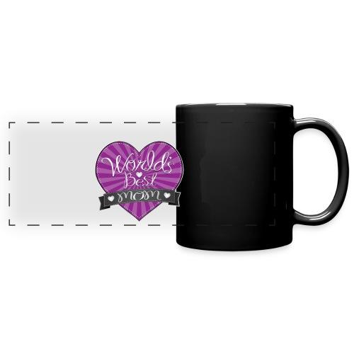 World's Best Mom Purple Heart - Full Color Panoramic Mug