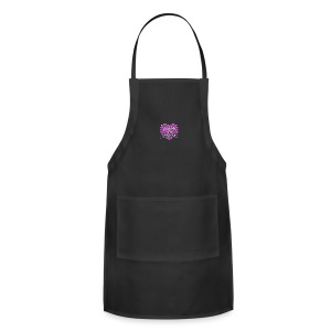 World's Best Mom Purple Heart - Adjustable Apron