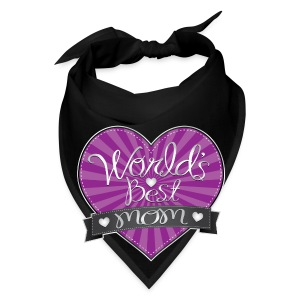 World's Best Mom Purple Heart - Bandana