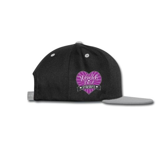 World's Best Mom Purple Heart - Snap-back Baseball Cap