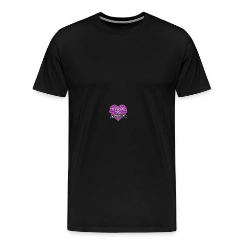World's Best Mom Purple Heart - Men's Premium T-Shirt