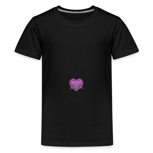 World's Best Mom Purple Heart - Kids' Premium T-Shirt