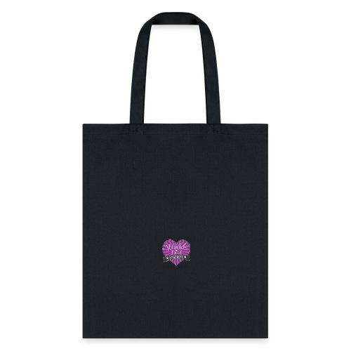 World's Best Mom Purple Heart - Tote Bag