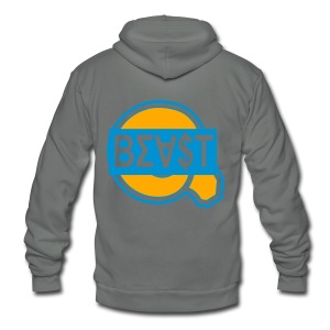 BEA$T ASU Tee - Unisex Fleece Zip Hoodie by American Apparel
