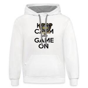 ESS Gaming Tshirt (keep calm and game on white) - Contrast Hoodie