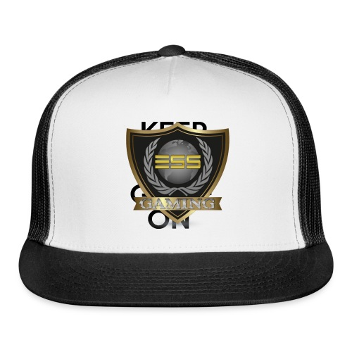 ESS Gaming Tshirt (keep calm and game on white) - Trucker Cap