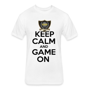 ESS Gaming Tshirt (keep calm and game on white) - Fitted Cotton/Poly T-Shirt by Next Level