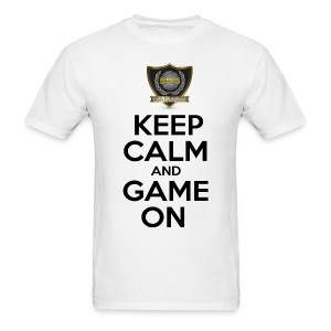 ESS Gaming Tshirt (keep calm and game on white) - Men's T-Shirt