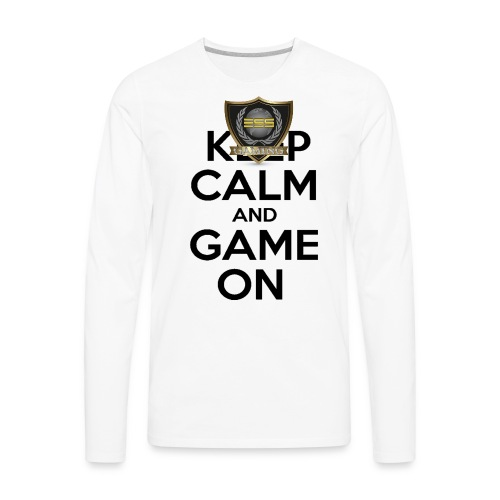 ESS Gaming Tshirt (keep calm and game on white) - Men's Premium Long Sleeve T-Shirt