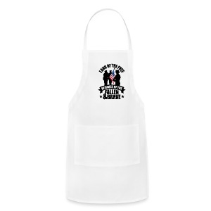 Land of Free Because of Fallen & Brave - Adjustable Apron