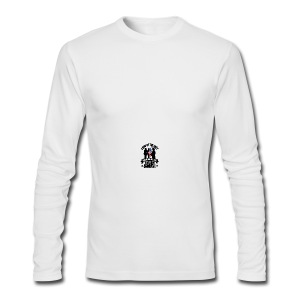 Land of Free Because of Fallen & Brave - Men's Long Sleeve T-Shirt by Next Level