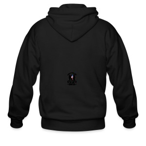 Land of Free Because of Fallen & Brave - Men's Zip Hoodie