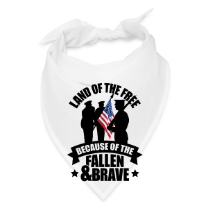 Land of Free Because of Fallen & Brave - Bandana