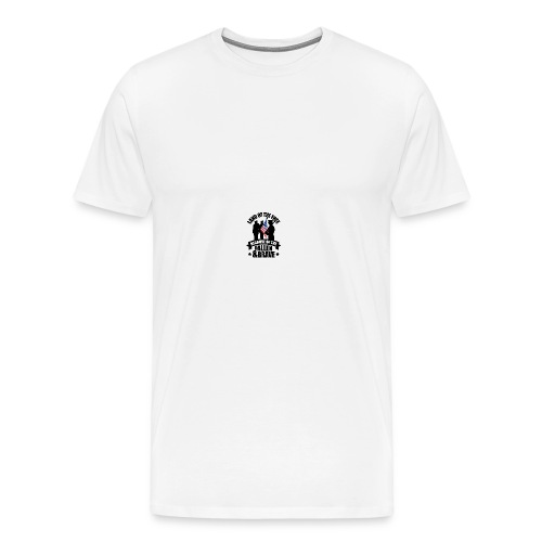 Land of Free Because of Fallen & Brave - Men's Premium T-Shirt