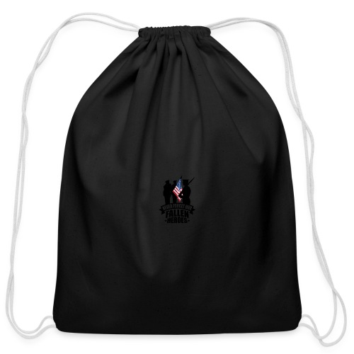 Never Forget Our Fallen Soldiers - Cotton Drawstring Bag