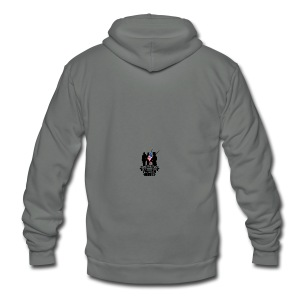 Never Forget Our Fallen Soldiers - Unisex Fleece Zip Hoodie by American Apparel