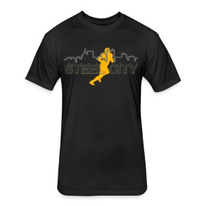 STEEL City Football Player - Fitted Cotton/Poly T-Shirt by Next Level