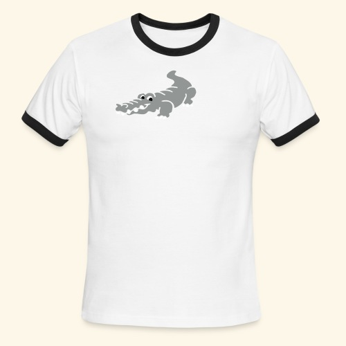 Alligator Croc by patjila2 - Men's Ringer T-Shirt
