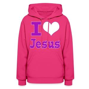 I Heart Jesus - Purple - Women's Hoodie