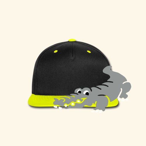 Alligator Croc by patjila2 - Snap-back Baseball Cap