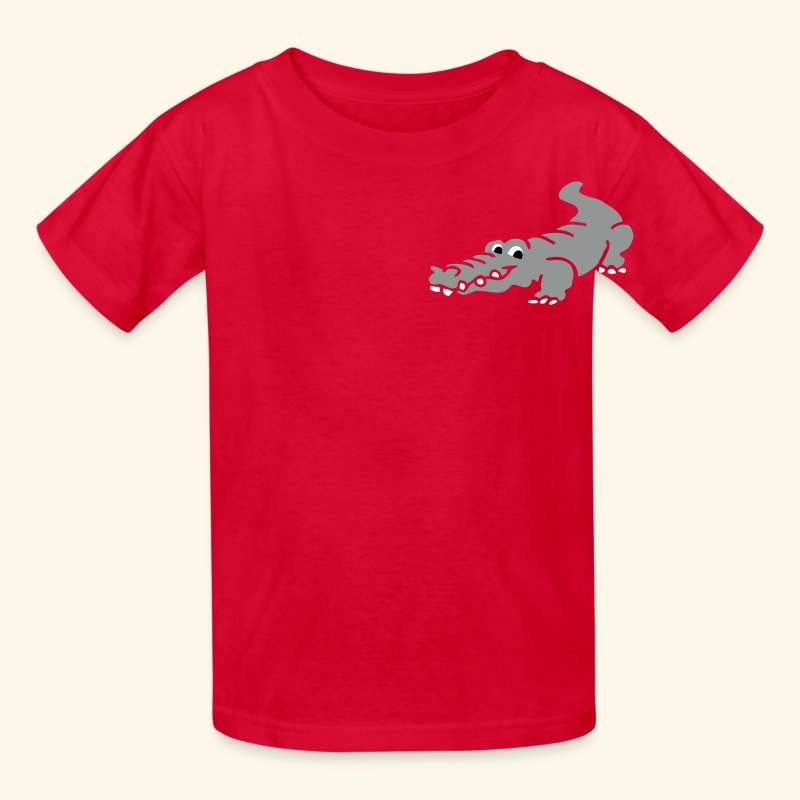 Alligator Croc by patjila2 - Kids' T-Shirt