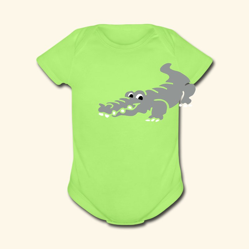 Alligator Croc by patjila2 - Short Sleeve Baby Bodysuit