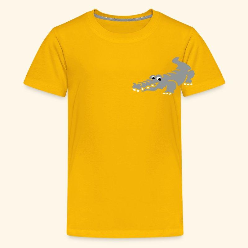 Alligator Croc by patjila2 - Kids' Premium T-Shirt