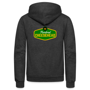 Pure Cheese  - Unisex Fleece Zip Hoodie by American Apparel