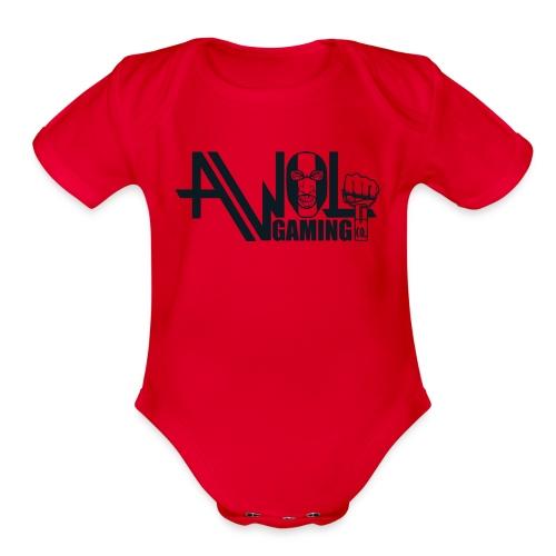 AWOL GAMING CO. LOGO  - Organic Short Sleeve Baby Bodysuit
