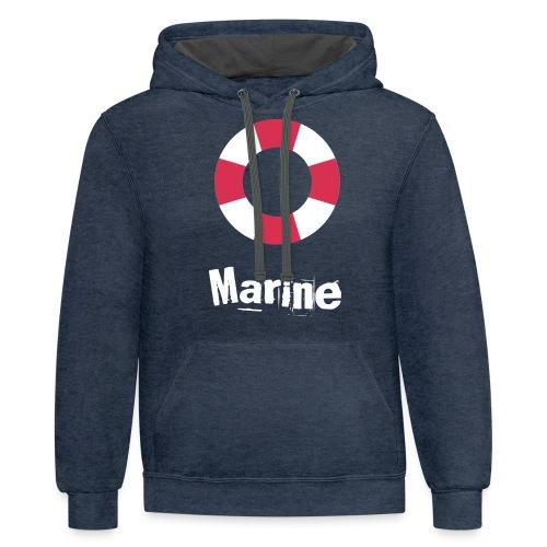 Marine - Contrast Hoodie