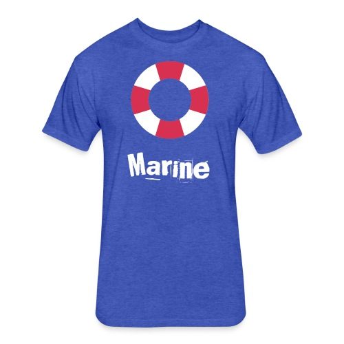 Marine - Fitted Cotton/Poly T-Shirt by Next Level