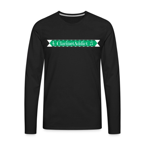 ClarinetAddict Banner shirt - Men's Premium Long Sleeve T-Shirt