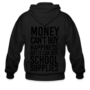 Addicted to School Supplies - Men's Zip Hoodie