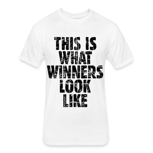 Winner T-Shirt S-5X Vintage/Black - Fitted Cotton/Poly T-Shirt by Next Level