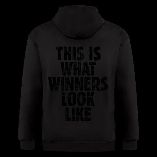 Winner T-Shirt S-5X Vintage/Black - Men's Zip Hoodie